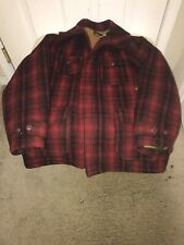 Vintage 50's Woolrich Plaid Mackinaw Hunting Coat Size 42