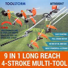 4-STROKE Pole Hedge Trimmer Garden Saw Brush Cutter Whipper Snipper Multi Tool