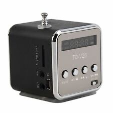 Blue Mini Digital Micro SD TF FM USB Speaker Radio Player For iphone MP3/4 XG