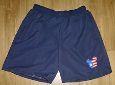 "MICKEY MOUSE-Sports Shorts.-Size 34""-Navy Blue-NEW-Embroidered-Stars & Stripes"