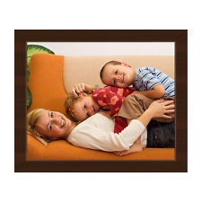 8x10 Your Picture - Photo - Art Custom Printed on Mounted Canvas -Espresso Frame