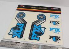 Genuine Fox Racing 2015 AM Fork & Shock Decal Kit, Cyan Blue #803-00-882, New