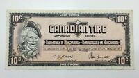 1974 Canadian Tire 10 Ten Cents CTC-S4-C-UN Circulated Money Banknote E145