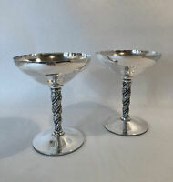 Vintage Alpaca Silver Goblets Chalices Set Of 2 Made In Spain