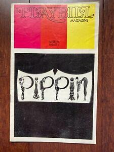 PLAYBILL ~ PIPPIN ~ 1973 ~ BEN VEREEN ~ BOB FOSSE ~ IMPERIAL THEATRE