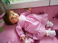 ens neuf robe 2 pièces poupée reborn, tinnie,baigneur,antonio juan 40/45 cm