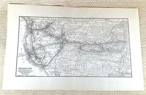 1916 Antique Railway Map The Union Pacific Railroad America Oregon Short Line