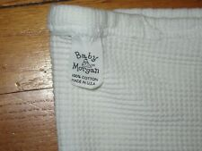 VTG Baby Morgan White Cotton Thermal Waffle Weave Blanket