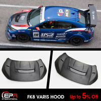 For 2017+ Honda Civic Type R FK8 Varis Style FRP Hood Bonnet Kits (5 Door Hatch)