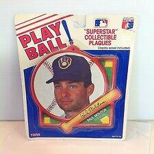 Vintage 1980's PLAY BALL Superstar Collectible Plaque Brewers Paul Molitor MLB