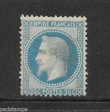 FRANCE 1867 20c blue Napoléon type A small stops vf MINT n.g.  SG 114
