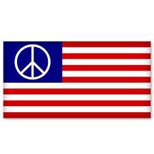 "Usa American Us Peace flag car bumper sticker decal 6"" x 4"""