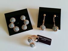 ADAMI & MARTUCCI RING AND EARRINGS SET ROSE GOLD SILVER NWT!