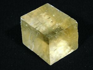A Semi Translucent Iceland Spar HONEY Calcite Crystal 66.7gr