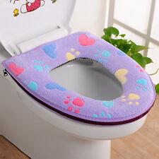 Thicken Soft Toilet Seat Cover Warm Bathroom Mat Set Toilet Zipper Cushion New