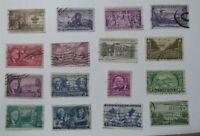 C4.Sellos USA, Stamped USD Lote de 16 variados, usados selectos antiguos
