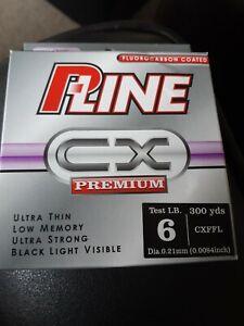 P LINE CX PREMIUM FLUOROCARBON COATED CLEAR FLUOROCA 6LB 300YDS CXFFL SALE SALE
