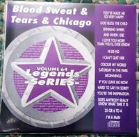 LEGENDS KARAOKE CDG BLOOD SWEAT & TEARS & CHICAGO OLDIES ROCK #64 16 SONGS CD+G
