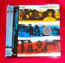 Police Synchronicity SHM MINI LP CD + PROMO OBI JAPAN UICY-76029