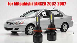 LED For LANCER 2002-2007 Headlight Kit 9007 HB5 6000K White Bulbs High-Low Beam