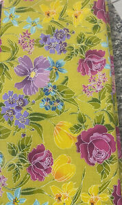 Blue with Green Leaves 100/% Cotton Fabric by the yard Purple DA204KK Floral Fabric: David Textiles Watercolor Floral Pink