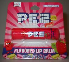 Pez Strawberry Flavored Lip Balm, Like The Candy! .12oz Tube, Carded!