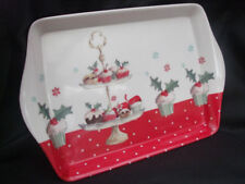 Natale CUP CAKE Vassoio ~ Small ~ Rosso/Holly Design ~ 8168