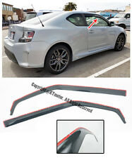 For 11-Up Scion tC Gen 2 JDm IN-CHANNEL Smoke Tint Side Window Visors Rain Guard