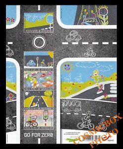 Planche 5 timbres Belges TRANSPORTS SECURITE ROUTIERE Belgique 2013 stamps NEUFS