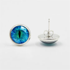 Eye Silver Stud Earrings 2 Colors Dragon  Cat Fantasy Steampunk Punk New Jewelry