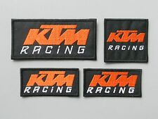 KTM RACING NERO KIT 4 TOPPE RICAMATE TERMOADESIVE