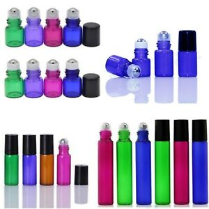 1ml/2ml/3ml/5ml/10ml Roll on Glass Bottles Essential Oil Metal Roller Ball