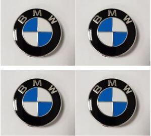 Genuine BMW Alloy Wheel Centre Badge Caps Chrome Edge (SET OF 4) - 36136783536