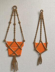 Macrame Hanging planter basket die cuts X 4 sets of each size 8 Hangers & 8 Pots