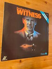 Witness 1985  Laserdisc  GOOD condition