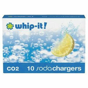 HIC Whip it Co2 Soda Charger, Pack of 10 (6562)