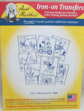 Aunt Martha's Hot Iron On Transfers - Personality Pigs #3743