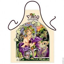 Women wine kitchen apron Liberty style wine lover gifts Polyester one size ITATI