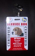 Service Dog ID Card for Working Dog ID Badge Service Animal Custom Certified 30