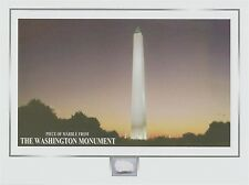 The WASHINGTON MONUMENT marble stone piece, Washington D.C.