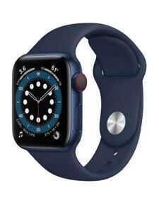 Apple Watch Series 6 (GPS + Cellular), 40mm Blue Aluminium Case Deep Navy Band