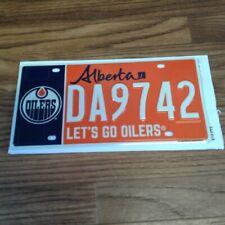 Edmonton Oilers Specialty Souvenir License Plate DA9742