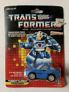 1986 G1 Transformers Throttlebot ⚙️FREEWAY⚙️  ~New on Card~