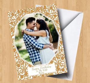 Personalised Own Photo/Picture (Boyfriend/Girlfriend/Wife/Husband) Birthday Card