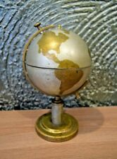 globe casket metal spins russia beautiful decor decoration office box vintage
