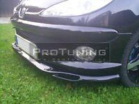 Peugeot 206 Front Bumper spoiler lip Valance addon wide bumper splitter Chin rs