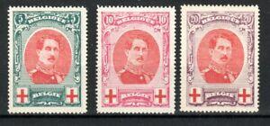 Belgium 1915 Red Cross Fund set MNH/MLH