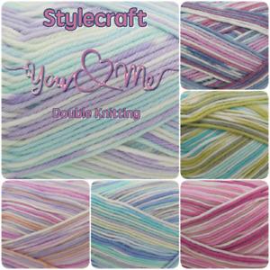 Stylecraft 100g DK You and Me Knitting & Crochet Wool Double Knit YARN +PATTERNS