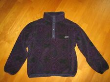 Men's Patagonia Blue Purple Aztec Print Fleece T-Snap Pullover Size Large