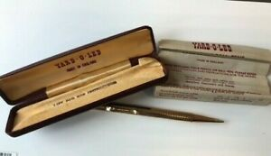 Vintage Boxed Propelling Pencil Yard-O-Led Rolled Gold